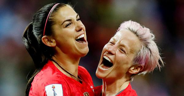 Watch: Alex Morgan and Megan Rapinoe discuss FIFA World Cup victory with Jimmy Kimmel