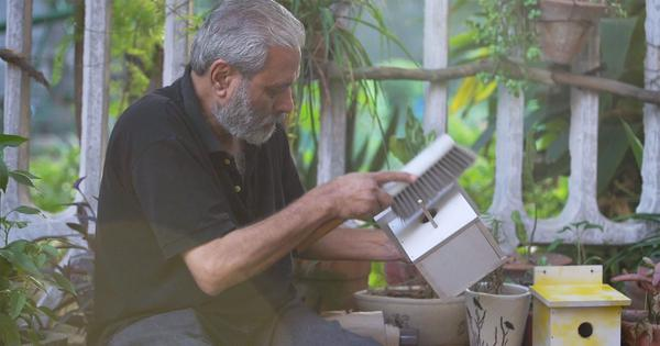 Eco India: Meet the man who is building hand-made nests for sparrows in the city