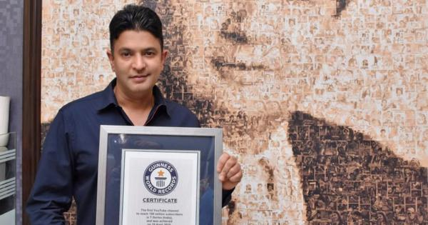 T-Series' Bhushan Kumar wins Guinness World Records certificate for most YouTube subscribers