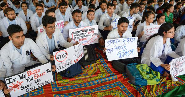 Across India, thousands of doctors  boycott work in solidarity with their colleagues in West Bengal