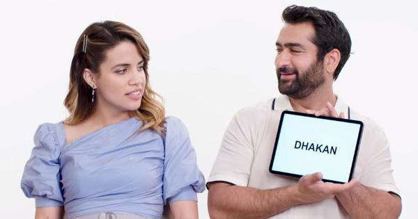 Watch: Actors Kumail Nanjiani, Natalie Morales take a class on slang in Urdu, Spanish