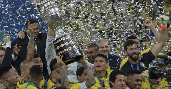 Brazil thrive despite Neymar absence by winning Copa America title after 12 years
