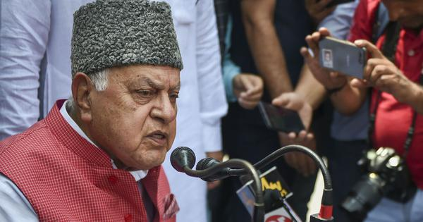 Farooq Abdullah calls for talks with Pakistan to end terrorism in Jammu and Kashmir