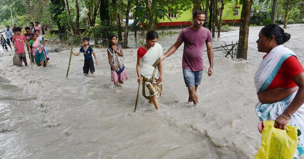 Assam floods: Over 4 lakh people affected in 17 districts, Barpeta worst hit by deluge