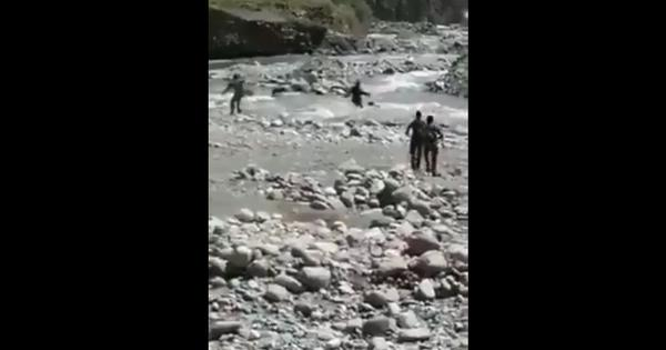 Watch: Two courageous CRPF soldiers save a teenaged girl from drowning in a river in Kashmir