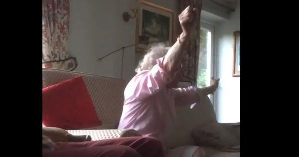 Watch: Eighty-year-old woman's joy at England's World Cup win is setting new celebration goals