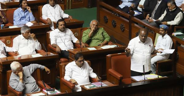 Karnataka: Deadlock continues in Assembly, governor asks chief minister to hold floor test by 6 pm