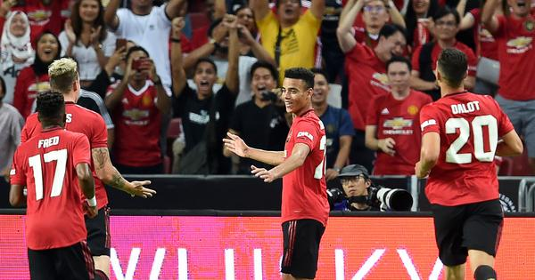 Watch: 17-year-old Mason Greenwood's sweet strike helps Man United earn 1-0 win over Inter Milan