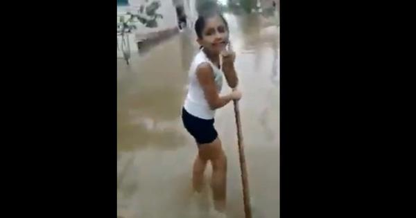 Watch: Schoolgirl reports on waterlogging problem in Kurukshetra, Haryana