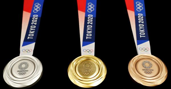 Tokyo 2020 Olympics unveil medals made from old recycled electronics
