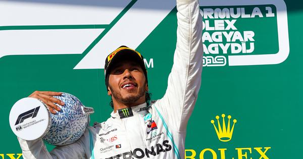 Formula One: Lewis Hamilton staves off pole-sitter Max Verstappen to win tense Hungarian Grand Prix