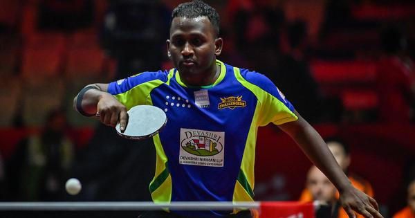 Table tennis nationals: Anthony Amalraj beats Soumyadeep Sarkar in a close game to reach Round of 32