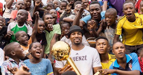 Once a beggar, Toronto Raptors' Serge Ibaka revisits restaurant in Congo as NBA champion