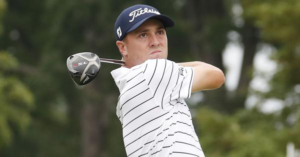 Golf: Justin Thomas sets course record to take lead at US PGA BMW Championship after third round
