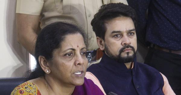 'No reaction here': Finance Minister Nirmala Sitharaman rescues her deputy Anurag Thakur