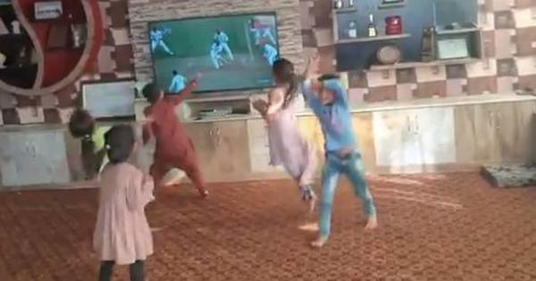 Watch: This video of five children celebrating Afghanistan's first Test victory has gone viral