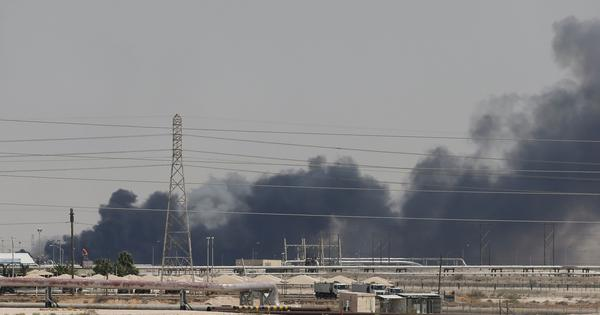 Houthi attack on Saudi oil facilities cripples almost half of country's supplies, US blames Iran