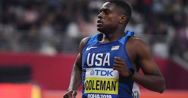 World 100m champion Christian Coleman to miss Olympics after two-year ban for anti-doping violations