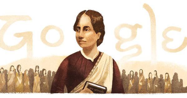 Google doodle marks 155th birth anniversary of Bengali women's rights activist Kamini Roy