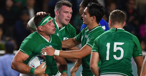 Rugby World Cup: Ireland dominate Samoa to earn bonus-point win and reach quarter-finals