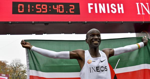 17 seconds for every 100m... for two hours: Kipchoge's remarkable run leaves Twitter awestruck