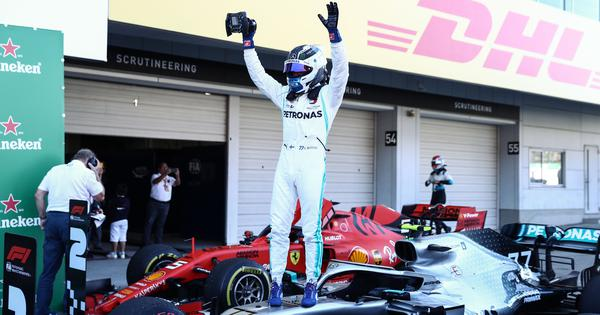Bottas pips pole-sitter Vettel to win Japanese GP as Mercedes clinch sixth constructors title
