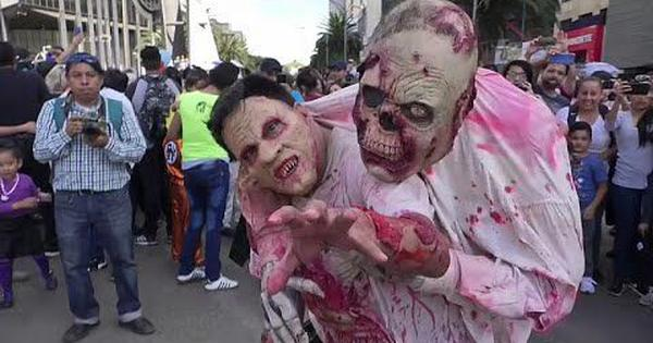 Watch: Mexico City hosted its annual zombie walk as people turned out in full costume