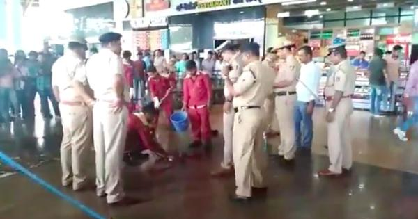 Watch: Scenes after an explosion at Hubli railway station in Karnataka