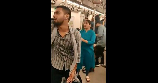 Watch: A group of young people sang tales of class divide for Delhi Metro passengers