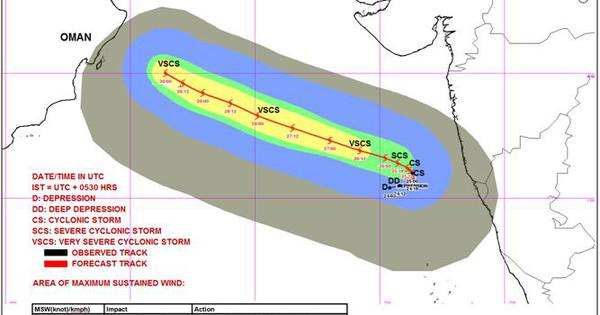 Rain predicted on western coast as cyclonic storm Kyarr set to become severe by Friday evening