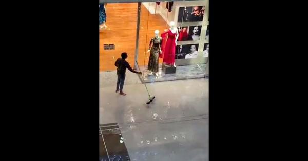 Watch: Some stores in the famous Dubai Mall were flooded after torrential rain in the UAE