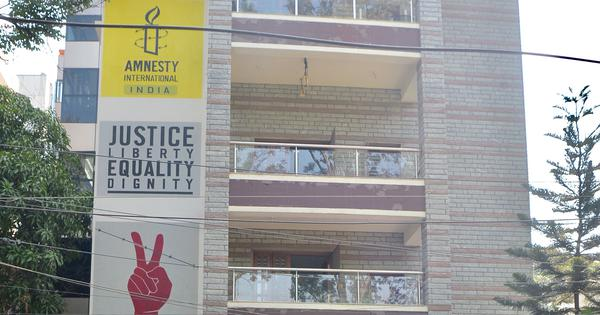 Amnesty India says it has been compelled to halt work as government freezes its bank accounts
