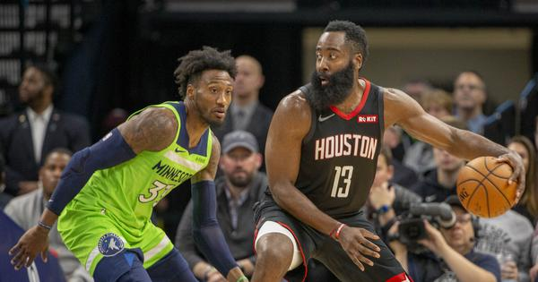 NBA wrap: James Harden torches Wolves for 49 points as Rockets beat Timberwolves