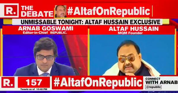Caught on TV: Arnab Goswami's guest Altaf Hussain struggles to pronounce his name