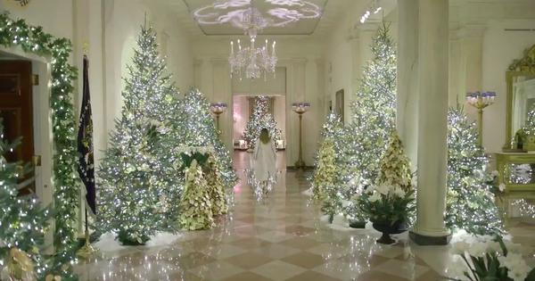 Watch: Melania Trump's White House Christmas decor video is ridiculed for being 'cold and opulent'