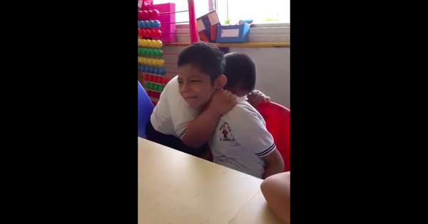 Watch: A boy affected by Down syndrome comforting his distressed classmate is winning hearts