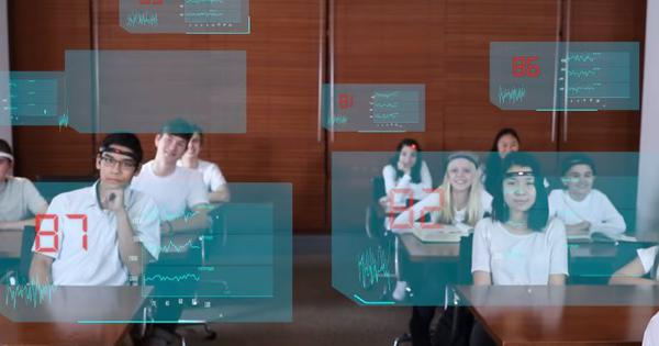 In a Chinese school, a 'mind-reading' headband tells teachers when their students are distracted