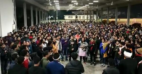 Watch: Tezpur University unites to sing the Assamese anthem in light of the anti-CAB protests