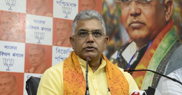 Bengal polls: EC bars Dilip Ghosh from campaigning for 24 hours for his remarks on Sitalkuchi firing