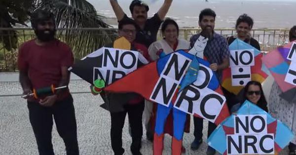 Watch: Kites saying 'No NRC' dotted the Bandra sky in Mumbai on Makar Sankranti