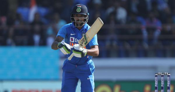 India v Australia: Dhawan sits out second half in Rajkot ODI after blow to ribs while batting