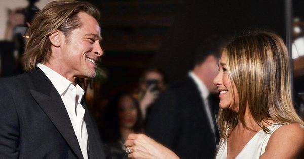 Video: Brad Pitt watched Jennifer Aniston accept her SAG award and everyone got emotional