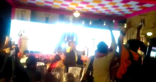 Watch: Students protest during litfest discussion with BJP MP Swapan Dasgupta in Kolkata