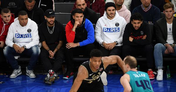 NBA: Footballers Neymar and Mbappe watch as Bucks beat Hornets in first-ever game in Paris