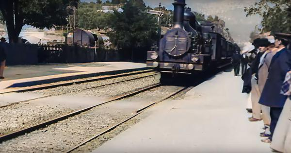 Watch: The Lumiere brothers' 'The Arrival of a Train' – restored and colourised