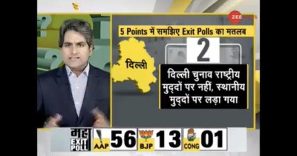 Watch: Delhi residents react to TV anchor Sudhir Chaudhary's rant against Assembly election result