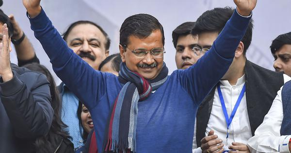 Delhi: AAP storms back to power for third straight term, Kejriwal calls it a victory for development
