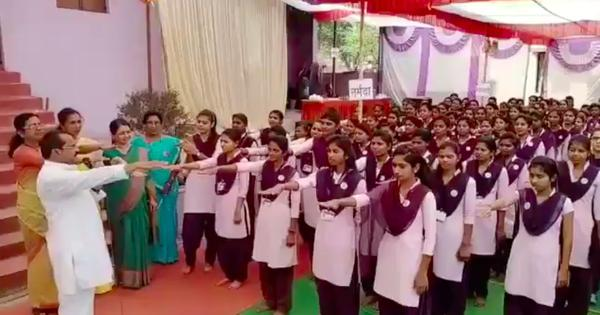 Watch: 'I will not love, or have a love marriage.' Amravati college girls forced into bizarre pledge