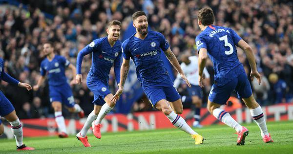 Premier League: Olivier Giroud, Marcos Alonso on target as Chelsea beat Tottenham to remain fourth