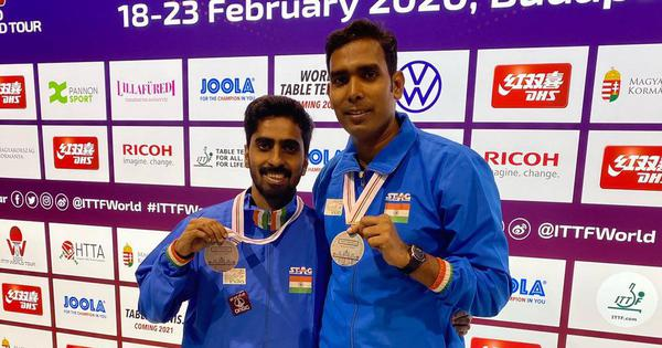 Table tennis: Sharath-Sathiyan finish with doubles silver to cap good week at Hungarian Open
